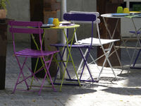 Tables in a Street Coffe Shop on Majorca - Palma de Majorca - La Rambla