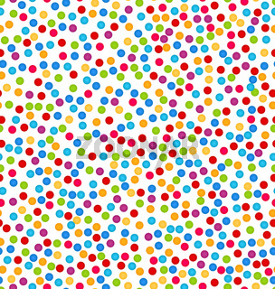 Seamless Pattern with Confetti, Fun Colorful Background