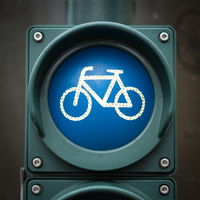 bicycle symbol on traffic light - bicycle icon