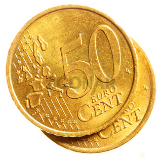 Fifty euro cent coins