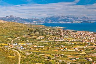 Kastela bay and Biokovo mountain view
