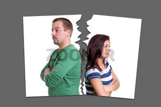 separation or divorce concept