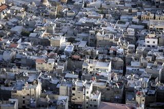 Uebersicht vom Berg Qassioum auf das Zentrum der Syrischen Hauptstadt Damaskus