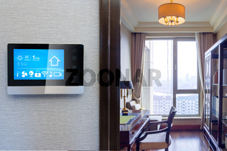 smart screen with smart home with modern study
