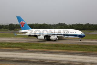 China Southern Airbus A380-800 Flugzeug Flughafen Chengdu