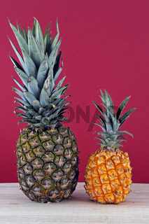 zwei Sorten Ananas
