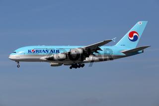 Korean Air Flugzeug Airbus A380