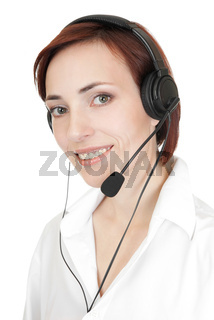 Beautiful girl with headset.