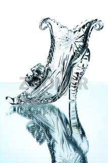 Crystal shoes isolated on a white background