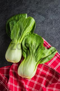 Fresh pak choi cabbage
