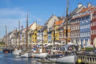Boats in Nyhavn Canal Nyhavn Copenhagen Denmark
