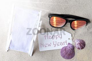 Sunny Flat Lay Summer Label Happy New Year