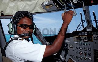 Pilot in Wassertaxi