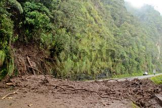 Erdrutsch in den Anden