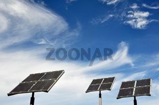 Solaranlage, Solartankstelle, solar collectors