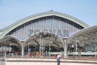 Dachkonstruktion des Kölner Hauptbahnhofs, NRW, Deutschland, Europa