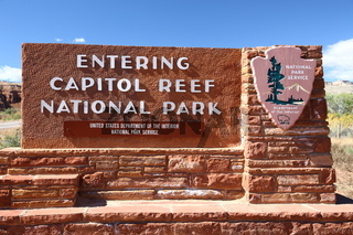 Entrance of Capitol Reef NP