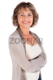Portrait of attractive senior woman