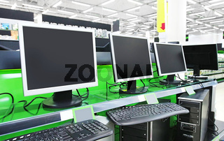 computers in supermarket