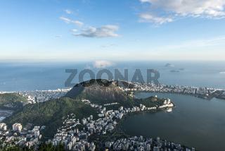 Lagoa and Ipanema residential neighborhoods in Rio de Janeiro, Brazil