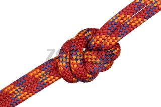 Knoten in rotem Seil