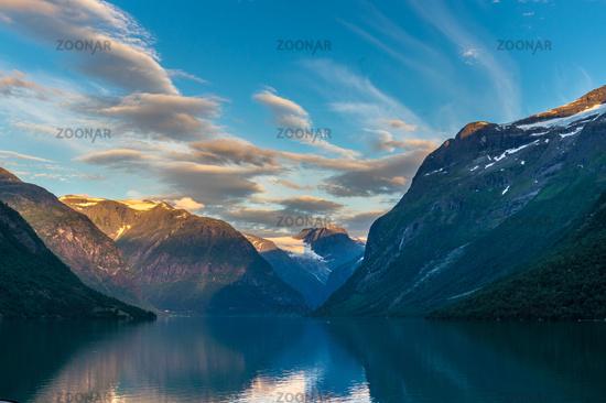 Beautiful landscape in Loen Norway