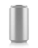 gray beer can isolated on white background