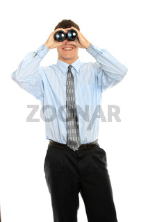 Businessman with vision