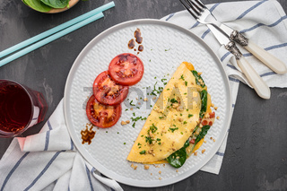 Omelet with vegetables
