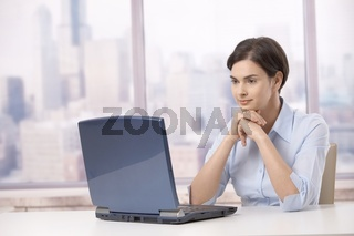 Professional woman with laptop computer