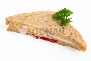 Sandwich mit Pute und Ei