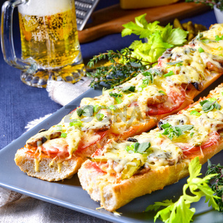 tasty vegetarian baguette