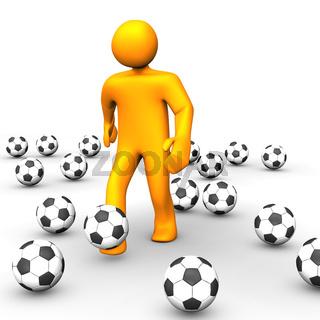 Human Soccer Ball 3D