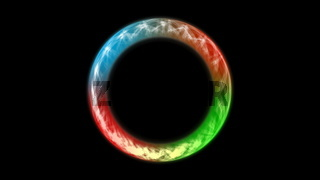Abstract neon ring. Digital background