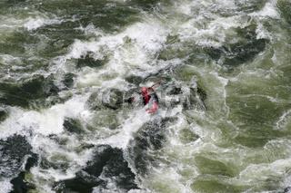 Kayak Rafting Tour auf dem Sambesi Fluss, Zambezi River, Viktoria Faelle, Sambia, Simbabwe, Afrika, Whitewater rafting tour on the Zambezi River, Victoria Falls, Zambia, Zimbabwe, Africa
