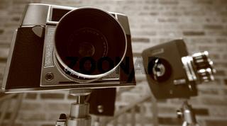 Kameras in Sephia&Panoramaformat