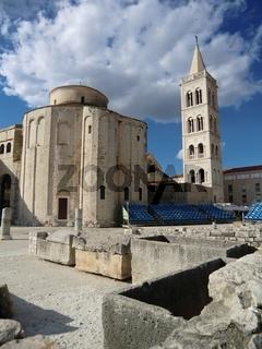 Zadar, Donatuskirche und Anastasiaturm