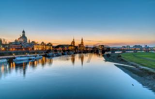 Panorama der Skyline von Dresden