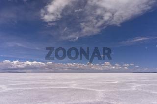 Salar de Uyuni, Fantastic cloudscape horizon, Bolivia, South America
