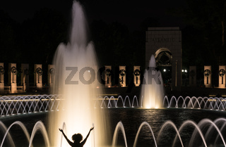 Fountains at World War Two memorial