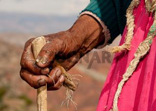 Hände einer alten Frau / Hands of Woman, Peru