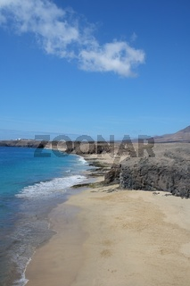 Strand Landschaft auf Lanzarote