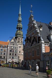 schwarzhaeupter gildhaus, guildhall, riga, lettland, latvia