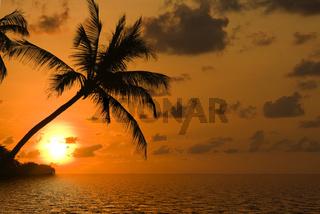 Sonnenuntergang am Traumstrand