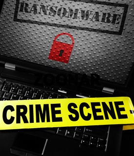 Ransomware crimescene tape