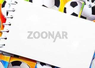 Fußball Notizblock
