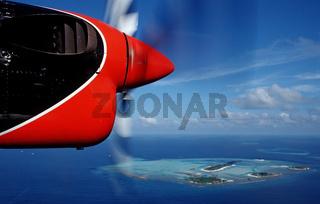 Luftbild von Malediveninsel