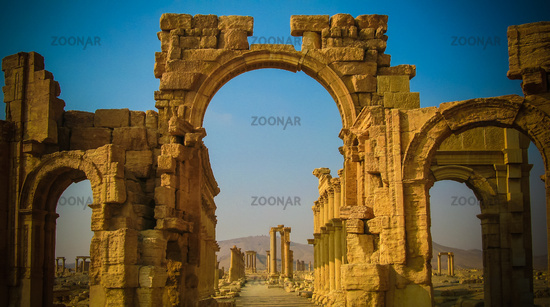 Roman Palmyra arch, now destroyed by ISIS