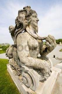 Statue in Schlosshof in Niederösterreich -Statue in  Festival palance Hof in Austria