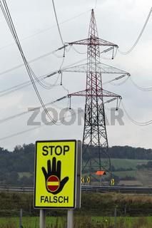 Strommast einer Stromleitung für Energie